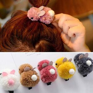 Eg-LX-Enfants-Bebe-Fille-Dessin-Anime-Lapin-Bunny-Peluche-Elastique-Cheveux