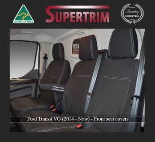 Front Bench Bucket seat covers fit Ford Transit Custom Van premium neoprene