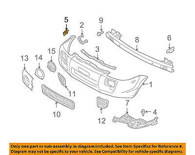 hyundai oem 05-09 tucson parachoques delantero-cubierta de parachoques clip  865172e000   ebay  ebay
