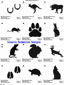 LD MACHINE EMBROIDERY DESIGNS 4x4 ANIMALS VOL 1