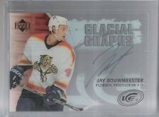 05-06 2005-06 UPPER DECK ICE JAY BOUWMEESTER GLACIAL GRAPHS AUTOGRAPH PANTHERS