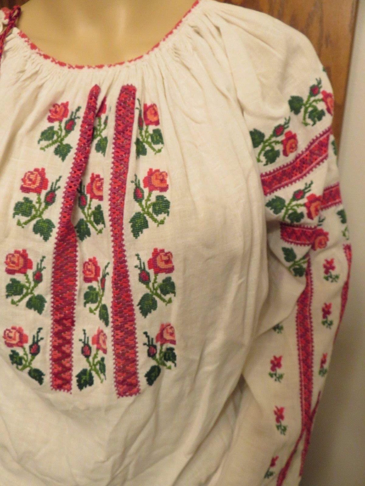 NM Antique  Ukrainian or Romanian  Folk Hand Embr… - image 2