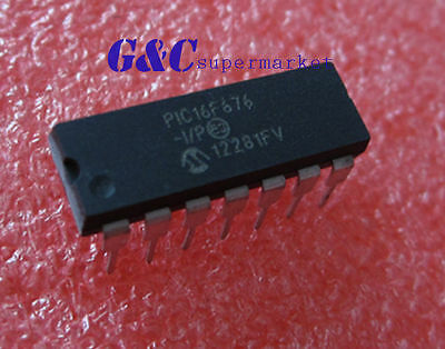 2PCS PIC16F676-I/P 16F676 IC MCU FLASH 1K W/AD 14-DIP NEW GOOD QUALITY D5