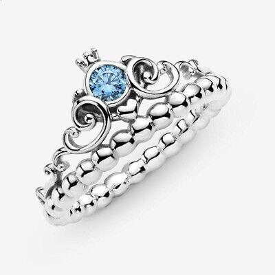 NEW Pandora - Disney Cinderella Blue Tiara Ring - S925 Silver | eBay
