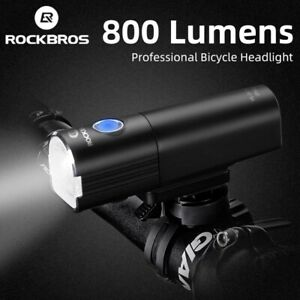 Rockbros MTB Bicycle Front Light Waterproof USB Rechargeable LED Head Rear Light