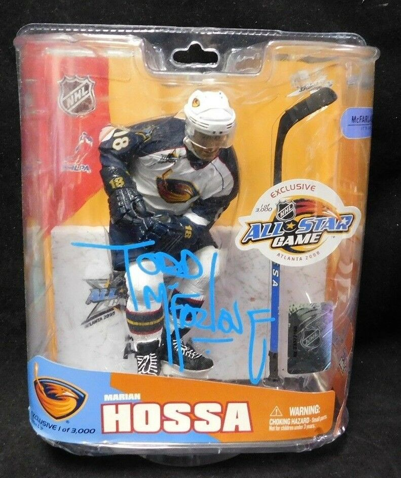 Todd McFarlane Signed NHL All-Star Exclusive LE 3,000 Marian Hossa Thrashers JSA