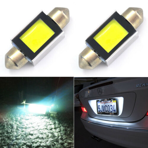 2x Lampen Soffitten 300LM Xenon Weiß 36mm mit LED COB SMD 6000K 4W Canbus