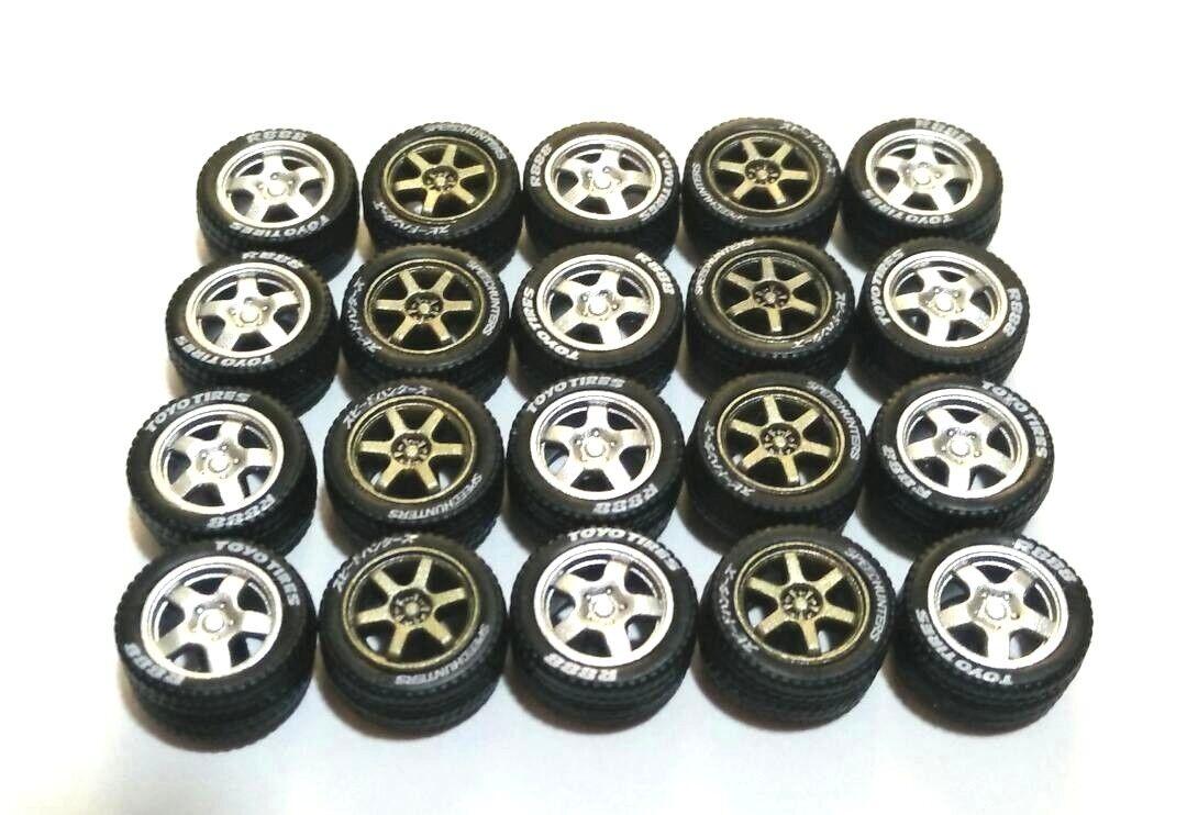 Seleccione de las marcas más nuevas como Llantas de 1 64 neumáticos neumáticos neumáticos de goma-TE37 y 5 radios Fit Greelight Hot Wheels Diecast - 5 Juegos  la mejor selección de