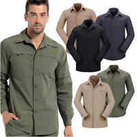 Men's Camping Hiking Casual Fashing Golf T-shirt Military Tactical Shirts