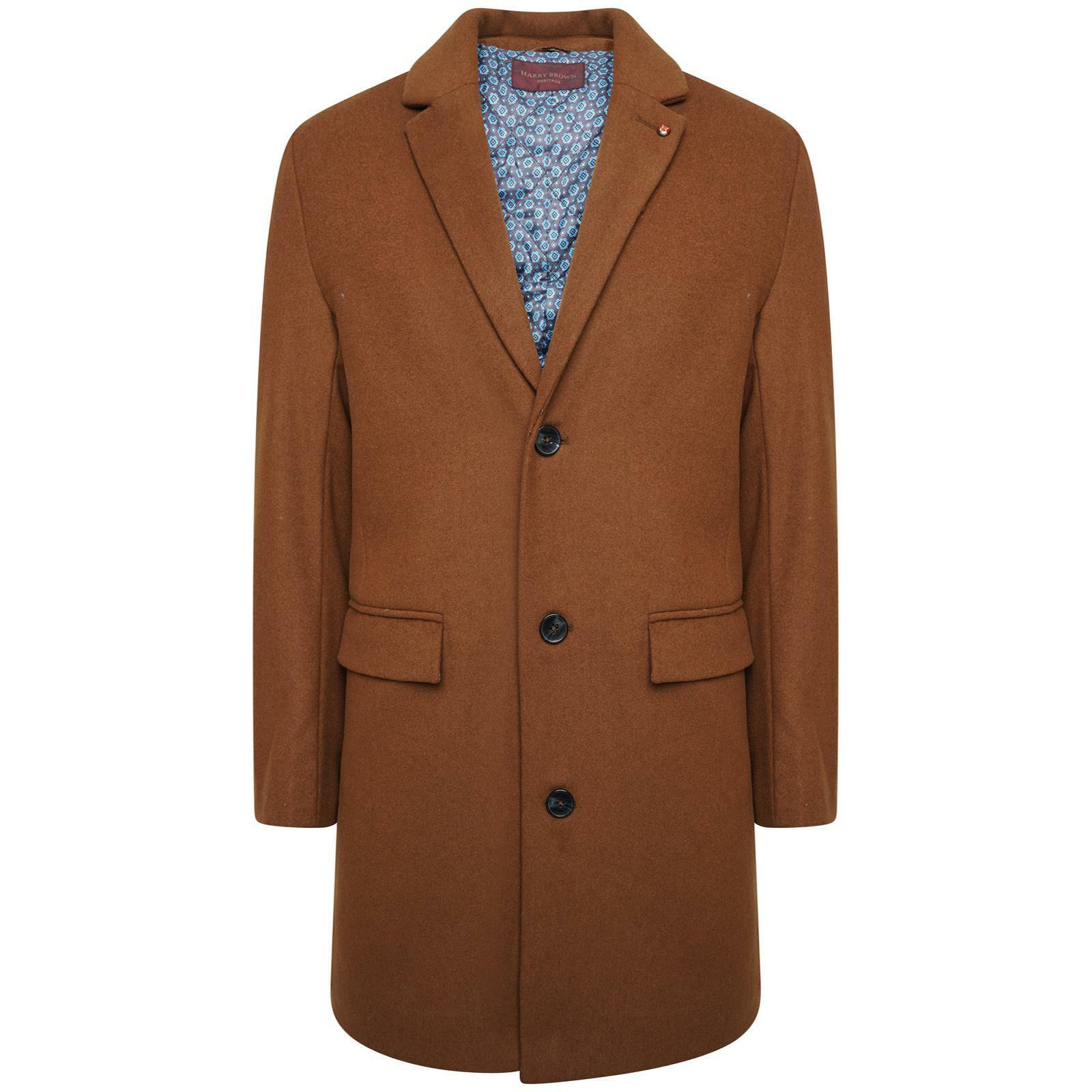Harry Braun Wool Overcoat in Taupe