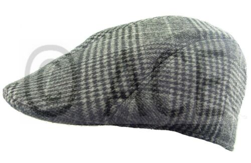 Mens Womens Unisex Country Patterned Check Classic VINTAGE HAT Peak FLAT CAP