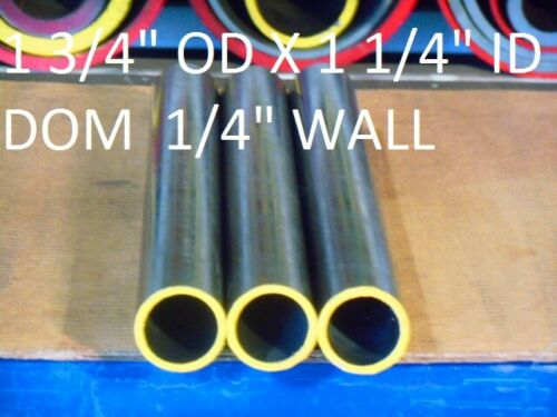 "E0080 DOM ROUND STEEL TUBE  1.750/"" OD  X   1.250/""  ID 24/""  LONG .250 WALL"