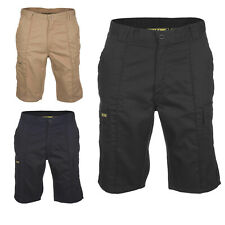 Mens Cargo Work Shorts Size 28 to 52 in Black Navy & Khaki - COMBAT SHORTS 006