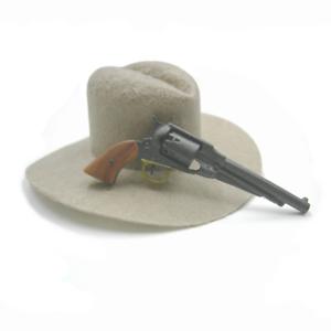 1//6 Battle Gear Toys Revolver Rémington 1858 crosse marron clair 891 02 USCW