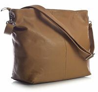 New Genuine Italian Leather Womens Hobo Slouch Medium Size Shoulder Handbag