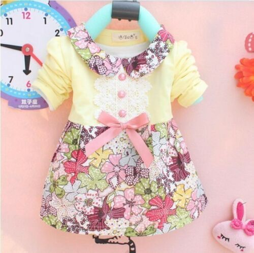 Spring autumn Baby Girls long-sleeved t-shirt  kids clothing fasihon dress