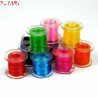 10 Colors 0.6mm Rib Round Larvae Nymph Ribbing Clear Stretch Fly Tying Materials