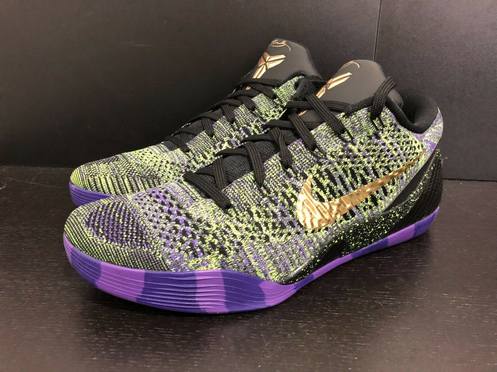 NIKE KOBE 9 ELITE LOW QS ID - MAMBA MOMENT - SIZE 11 - LAKERS - BRYANT