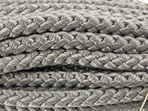 Poly Cord Braided Poly Rope Coil 10 Mm Grey Polypropylène Braid X 20 Metre Hank