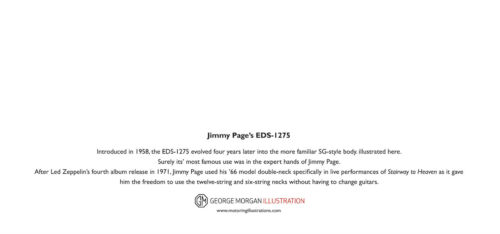 DL size Jimmy Page/'s 1966 Gibson EDS-1275 Guitar Greeting Card