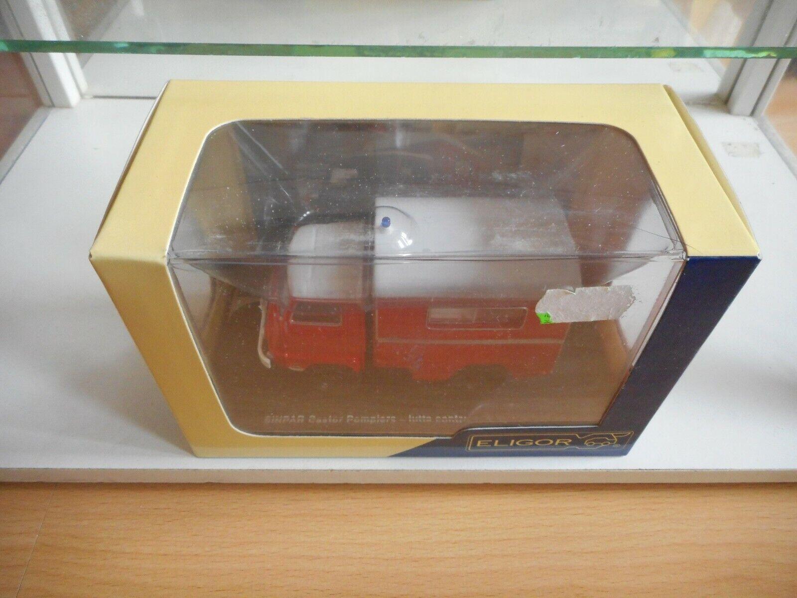 Eligor Sinpar Castor Pompiers in rojo blanco on 1 43 in Box