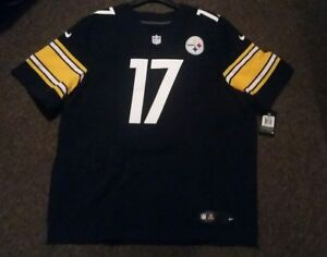 c18e93e9ded MIKE WALLACE  17 STEELERS AUTHENTIC HOME NIKE ELITE FOOTBALL JERSEY ...