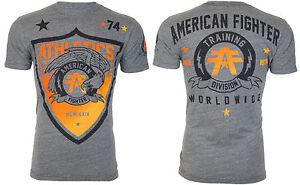 AMERICAN-FIGHTER-Mens-T-Shirt-ATHENA-Eagle-GREY-Athletic-Biker-Gym-MMA-40
