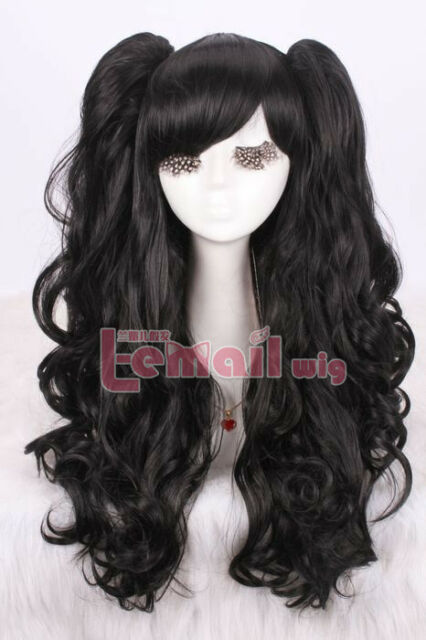 Lovely  lolita full wig curly wave long cosplay wig with ponytails rw137