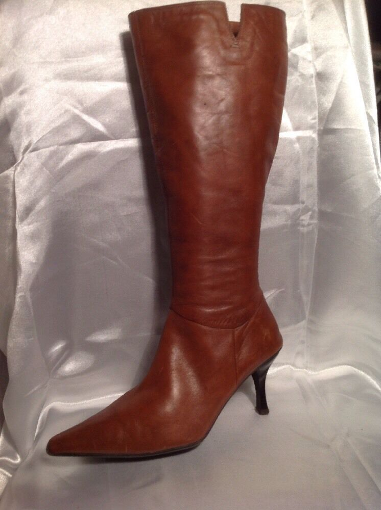 Clarks Brown Knee High Leather Boots Size 6