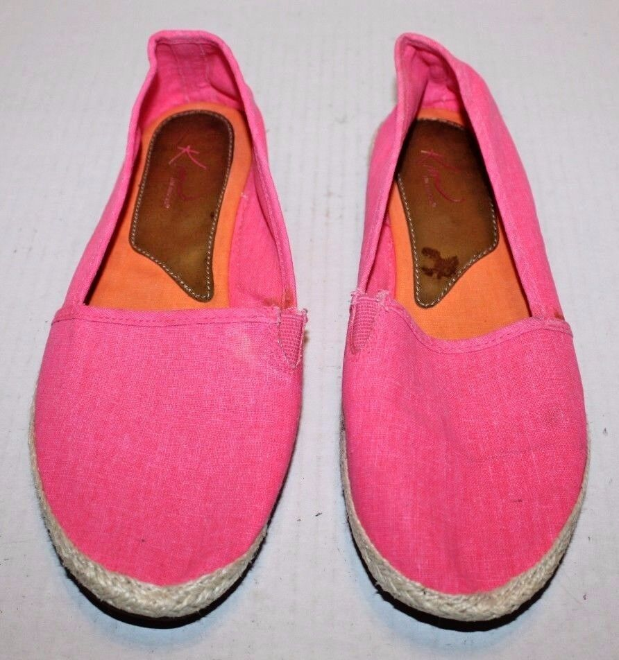 Kim Rogers On Galinda Pink Fabric Slip On Rogers Women's Shoes Size 8.5M FREE Shipping! 1c2f64