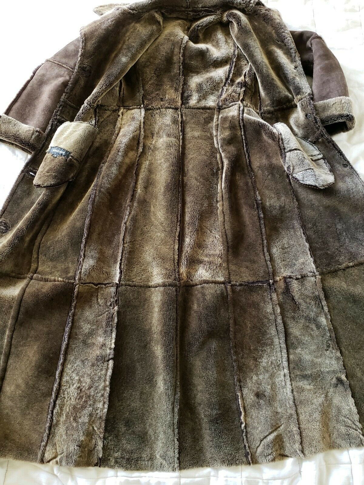 Workshop NY full length shearling coat lightweigh… - image 2