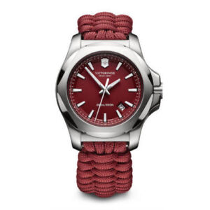 New-Victorinox-Swiss-Army-Red-Paracord-Watch-241744-INOX-NWT