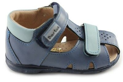 120/p Dricend Nieb Punctual Bartus Blue Boy Leather Orthopedic Sandals Made In Poland