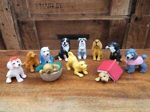 Puppy-In-My-Pocket-Bundle-of-11-Figures-MEG-Vintage-Retro-1990-039-s