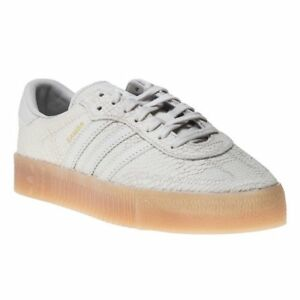 db0358f0a New Womens adidas Natural White Samba Rose Leather Trainers Animal ...