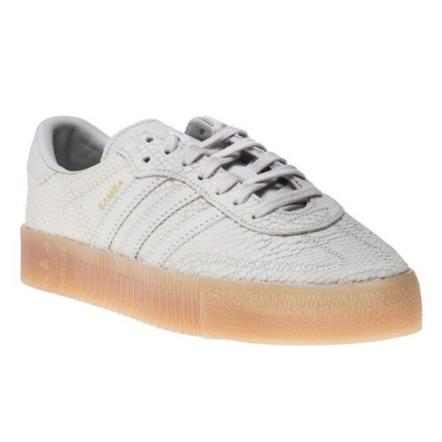 Rose Adidas sneakers Nieuw Samba White Womens Animal Lace Natural lederen Up 54RjAL