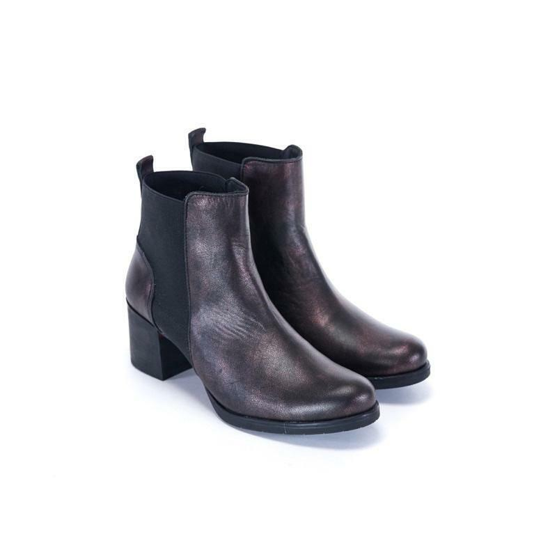 UMA Damenschuhe CANELO METALLIC BOOTS - BORDEAUX - SZ 7UK EUR 40 -   SALE