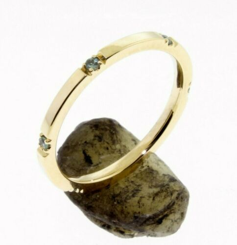 6 Alexandrite Eternity 14 K Comfort Fit Gold Wedding Band or Stacking Rings