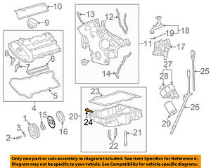 Details about JAGUAR OEM 02-08 X-Type 3.0L-V6-Engine Oil Drain Plug on