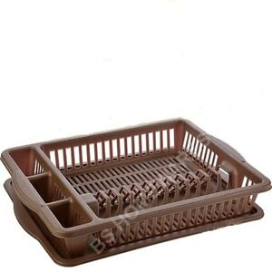Details about Plastic Dish Drainer Tray Cutlery Draining Holder Kitchen Sink Tidy Plate Rack  sc 1 st  eBay & Plastic Dish Drainer Tray Cutlery Draining Holder Kitchen Sink Tidy ...