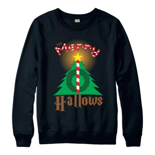 Harry Potter Christmas Jumper The Merry Hallows Festive Adult /& Kids Jumper Top