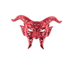Metallic Red Devil Masquerade Masque vénitien Halloween Hommes Homme Bal Masqué
