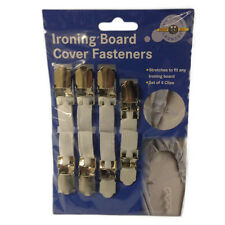 IRONING BOARD COVER FASTENERS SET OF 4 CLIPS ELASTIC BRACE STRAPS LAUNDRY HOME