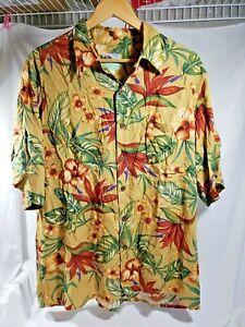 Reyn-Spooner-Hawaiian-Traditionals-Men-039-s-Shirt-Size-Large-100-Spun-Rayon-EUC