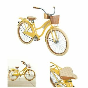 Womens-Cruiser-Bike-26-Vintage-Beach-Bicycle-Basket-Ladies-Cruising-Road-Cruiser