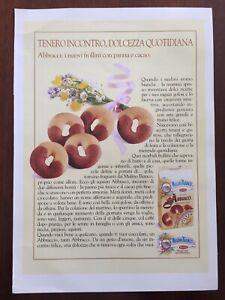 Ritaglio-Giornale-Pubblicita-Advertising-Anni-80-Mulino-Bianco-Abbracci