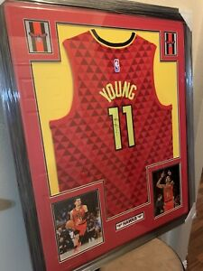 Trae-Young-Authentic-Autograph-Framed-Jersey-COA-Atlanta-Hawks
