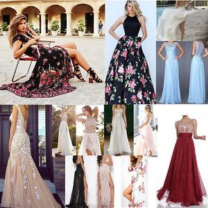 Lot Fashion Women Summer Boho Sleeveless Evening Party Cocktail Long Maxi Dress