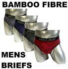 2 x Mens Bamboo Fibre Briefs Underwear Brief Trunk 4 Colours Aussie Sizes!
