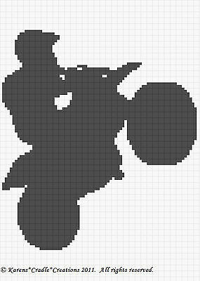 Crochet Patterns CAT//KITTEN FACE Color Graph Afghan Pattern *EASY//BEGINNER